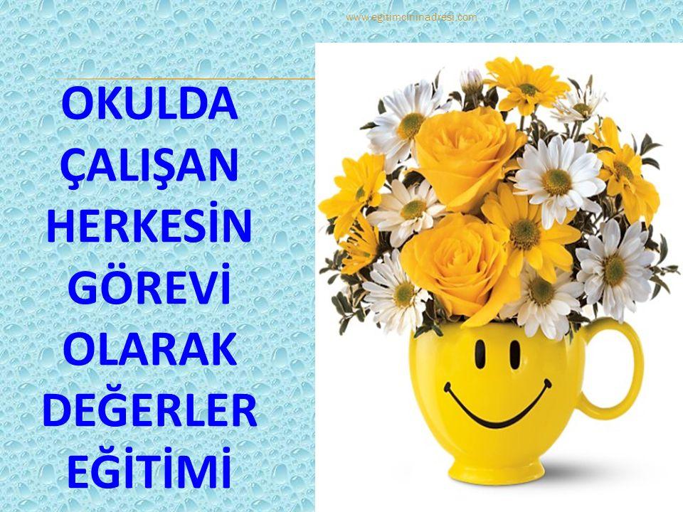 OKULDA ÇALIŞAN HERKESİN GÖREVİ OLARAK DEĞERLER EĞİTİMİ www.egitimcininadresi.com