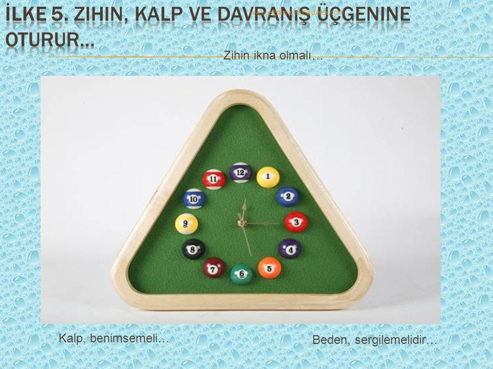 Zihin ikna olmalı… Kalp, benimsemeli… Beden, sergilemelidir… www.egitimcininadresi.com