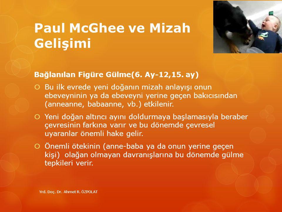 Paul McGhee ve Mizah Gelişimi Bağlanılan Figüre Gülme(6. Ay-12,15. ay)  Bu ilk evrede yeni doğanın mizah anlayışı onun ebeveyninin ya da ebeveyni yer