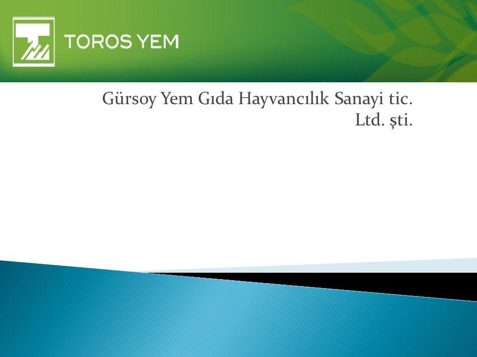 Gürsoy Yem Gıda Hayvancılık Sanayi tic. Ltd. şti.