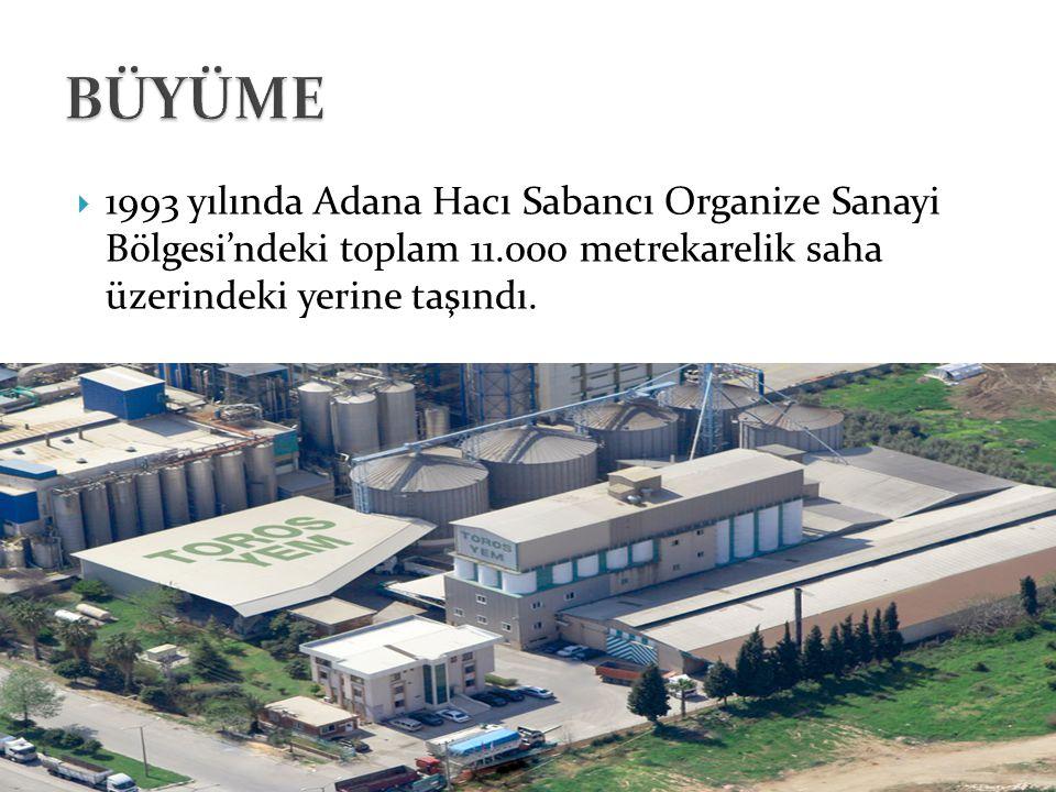  1993 yılında Adana Hacı Sabancı Organize Sanayi Bölgesi'ndeki toplam 11.000 metrekarelik saha üzerindeki yerine taşındı.