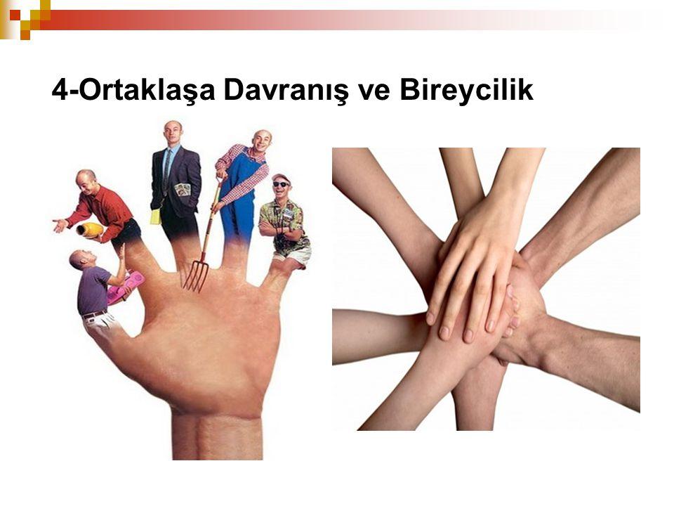 4-Ortaklaşa Davranış ve Bireycilik