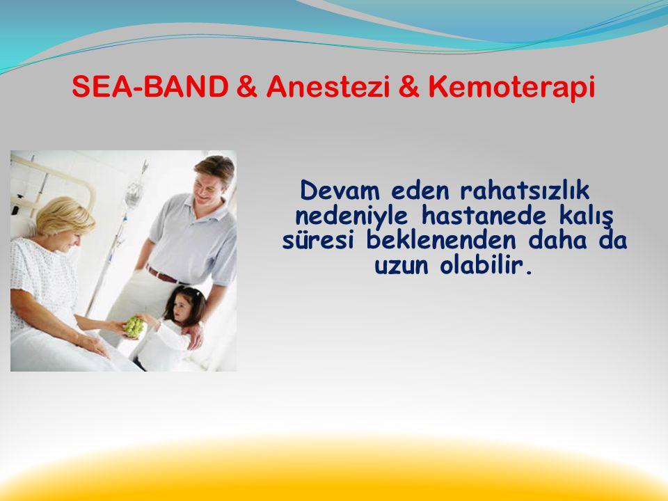 SEA-BAND & Anestezi & Kemoterapi Modern teknolojiye rağmen, genel anestezi ile yapılan operasyon sonrasında; özelliklede verilen ağrı kesiciler sonras