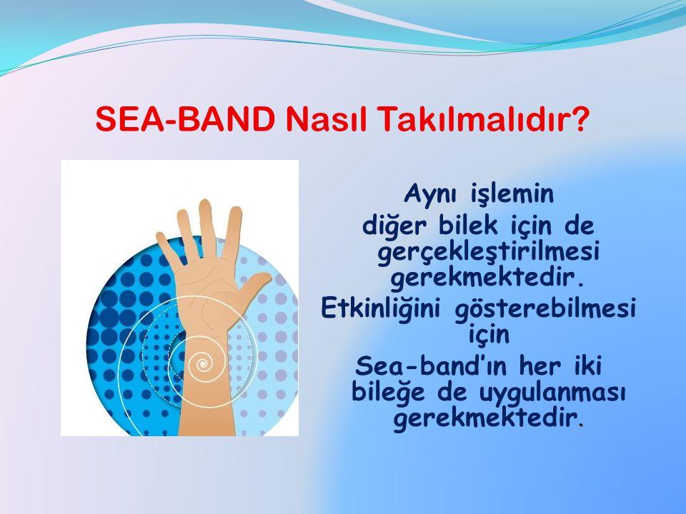 SEA-BAND Nasıl Takılmalıdır? Bu şekilde Sea-band'ın iç kısmında yer alan plastik pim, Nei-kuan noktasına isabet edecektir.