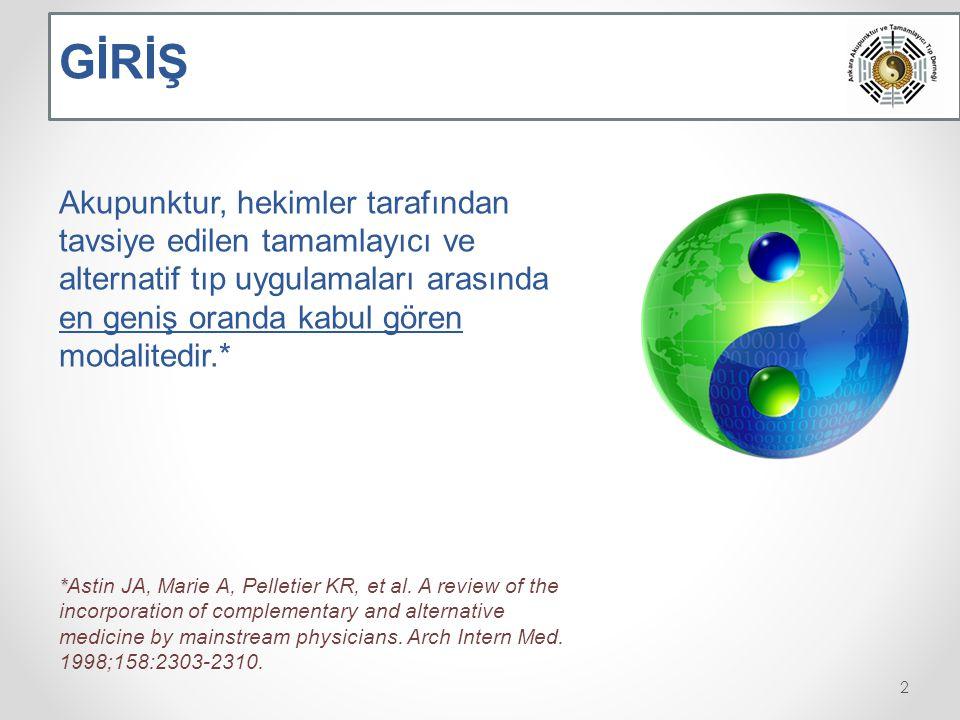 GİRİŞ ilk kez 2002 yılında, Gazi Üniversitesi Tıp Fakültesi tarafından bilimsel içeriği ve müfredatı tam olarak oluşturulmuş, Sağlık Bakanlığı tarafından onaylı akupunktur kursları verilmeye başlanmıştır.