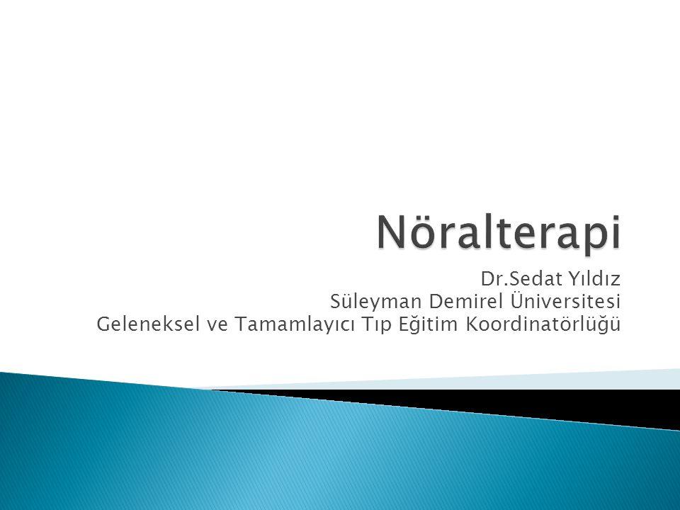 Dr.Sedat Yıldız Süleyman Demirel Üniversitesi Geleneksel ve Tamamlayıcı Tıp Eğitim Koordinatörlüğü