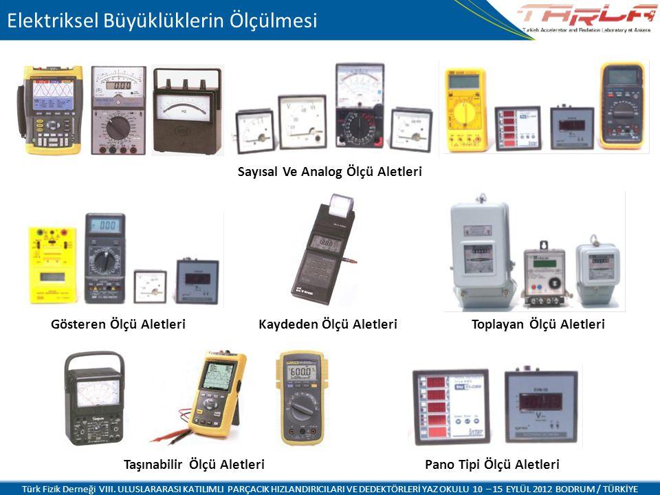 Elektriksel Büyüklüklerin Ölçülmesi Türk Fizik Derneği VIII. ULUSLARARASI KATILIMLI PARÇACIK HIZLANDIRICILARI VE DEDEKTÖRLERİ YAZ OKULU 10 – 15 EYLÜL
