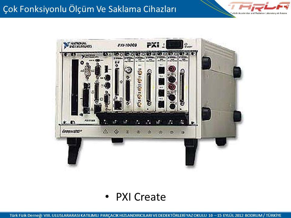 PXI Create Türk Fizik Derneği VIII. ULUSLARARASI KATILIMLI PARÇACIK HIZLANDIRICILARI VE DEDEKTÖRLERİ YAZ OKULU 10 – 15 EYLÜL 2012 BODRUM / TÜRKİYE Çok