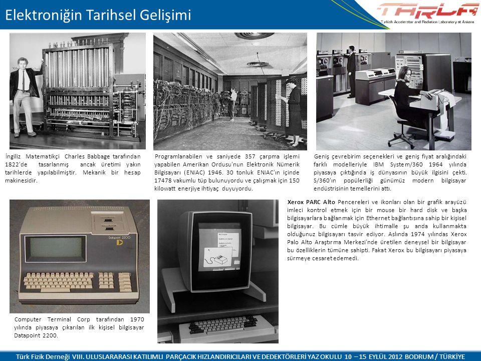 Elektroniğin Tarihsel Gelişimi İngiliz Matematikçi Charles Babbage tarafından 1822 de tasarlanmış ancak üretimi yakın tarihlerde yapılabilmiştir.