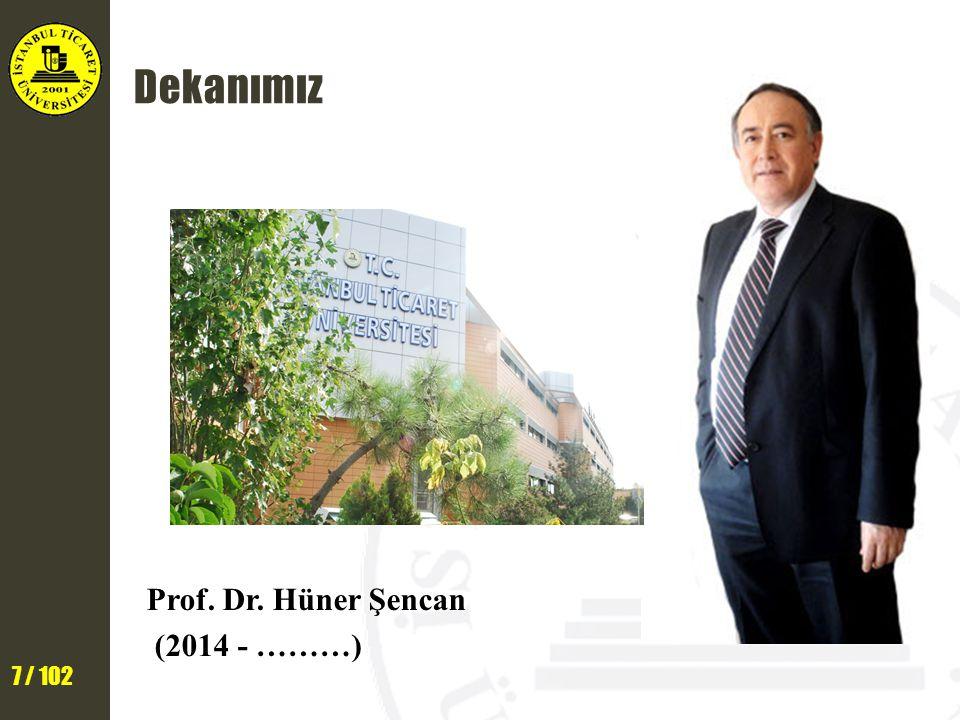 8 / 102 Öğretim Üyelerimiz Prof.Dr. İsmail Ekmekçi Bölüm Başkanı Yrd.