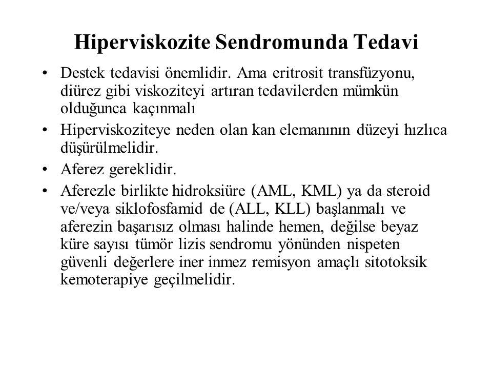 Hiperviskozite Sendromunda Tedavi Destek tedavisi önemlidir.