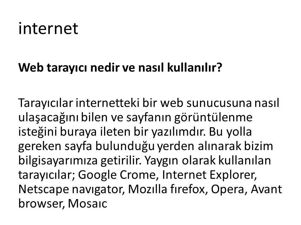 Web tarayıcı nedir ve nasıl kullanılır? Tarayıcılar internetteki bir web sunucusuna nasıl ulaşacağını bilen ve sayfanın görüntülenme isteğini buraya i