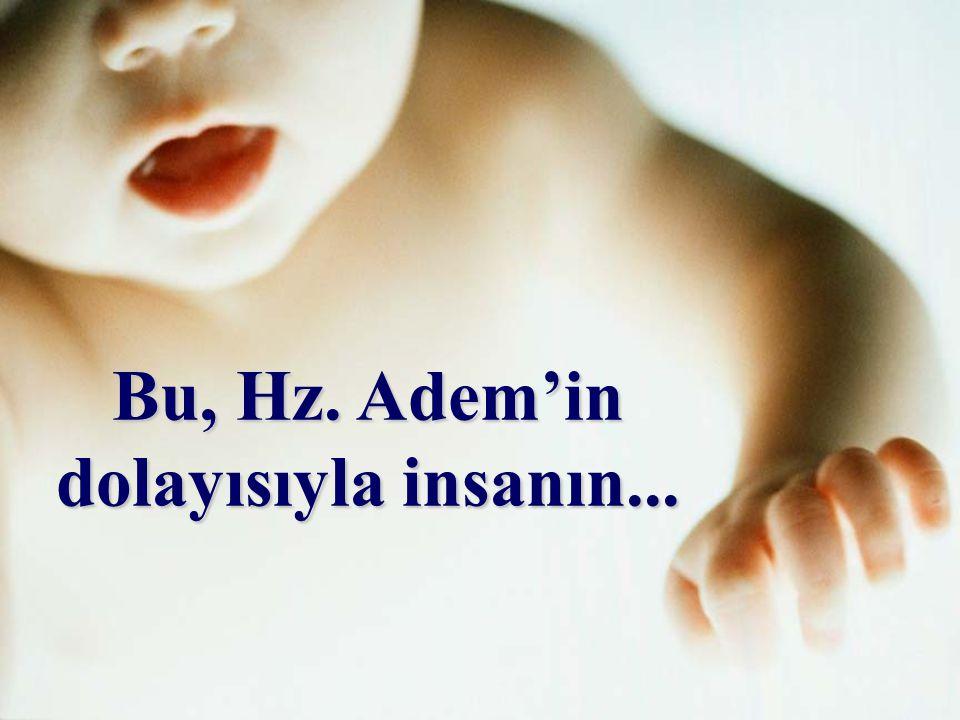 """Hz. Adem, Allah'ın """"Ol!"""" demesiyle derhal """"Oluvermiş""""(yaratılmış), üflenen bir ruhla hayat kazanmıştır."""