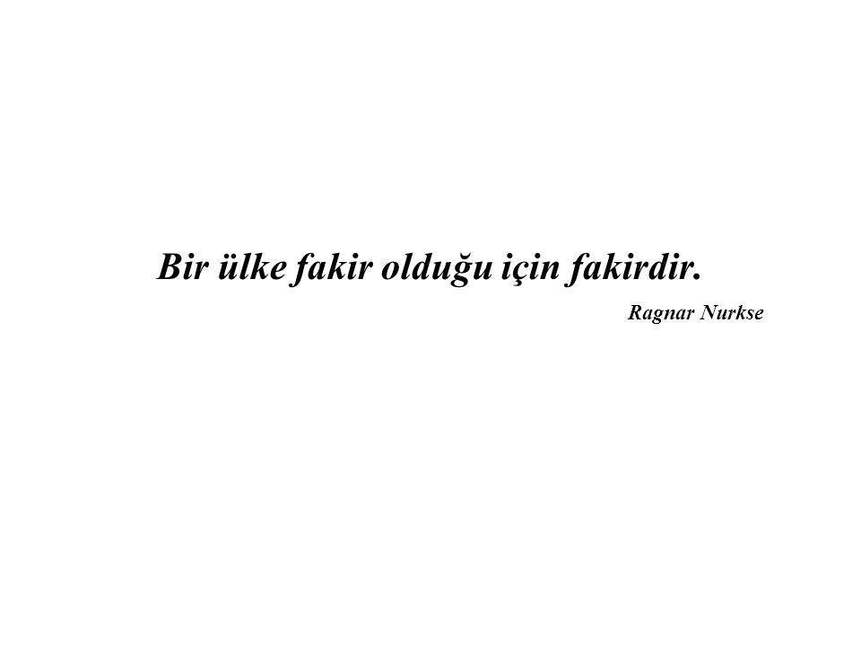 Bir ülke fakir olduğu için fakirdir. Ragnar Nurkse