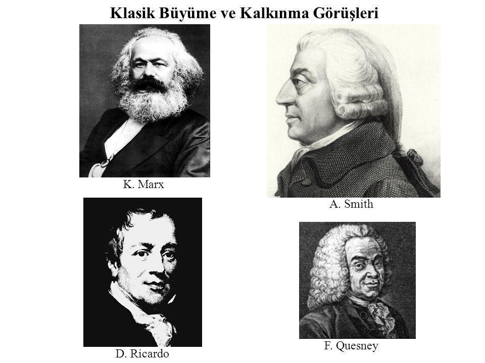 K. Marx A. Smith D. Ricardo F. Quesney Klasik Büyüme ve Kalkınma Görüşleri