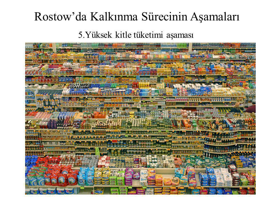 Rostow'da Kalkınma Sürecinin Aşamaları 5.Yüksek kitle tüketimi aşaması