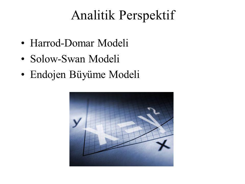 Analitik Perspektif Harrod-Domar Modeli Solow-Swan Modeli Endojen Büyüme Modeli