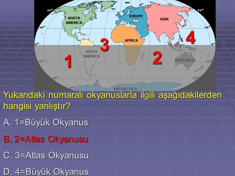 A.En büyük kıtadır. B. En sıcak kıtadır. C. Her iki yarımkürede de toprağı vardır.