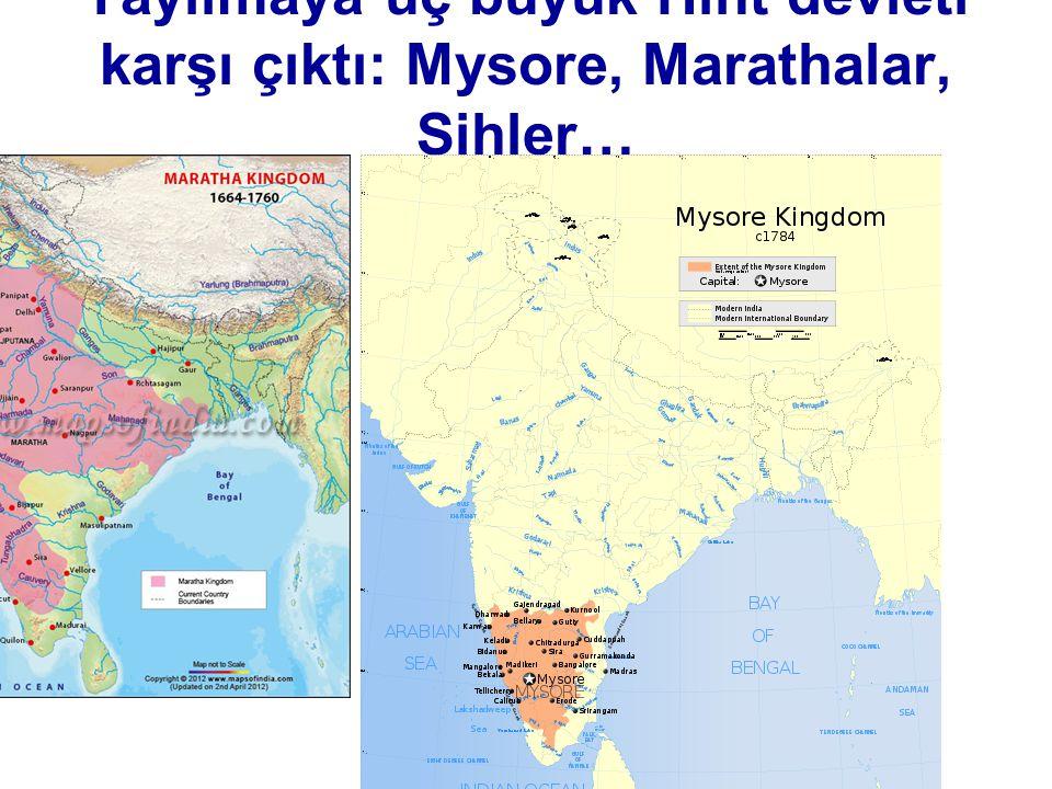 Yayılmaya üç büyük Hint devleti karşı çıktı: Mysore, Marathalar, Sihler… Maratha