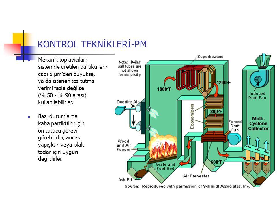 Mekanik toplayıcılar; sistemde üretilen partiküllerin çapı 5 µm'den büyükse, ya da istenen toz tutma verimi fazla değilse (% 50 - % 90 arası) kullanıl