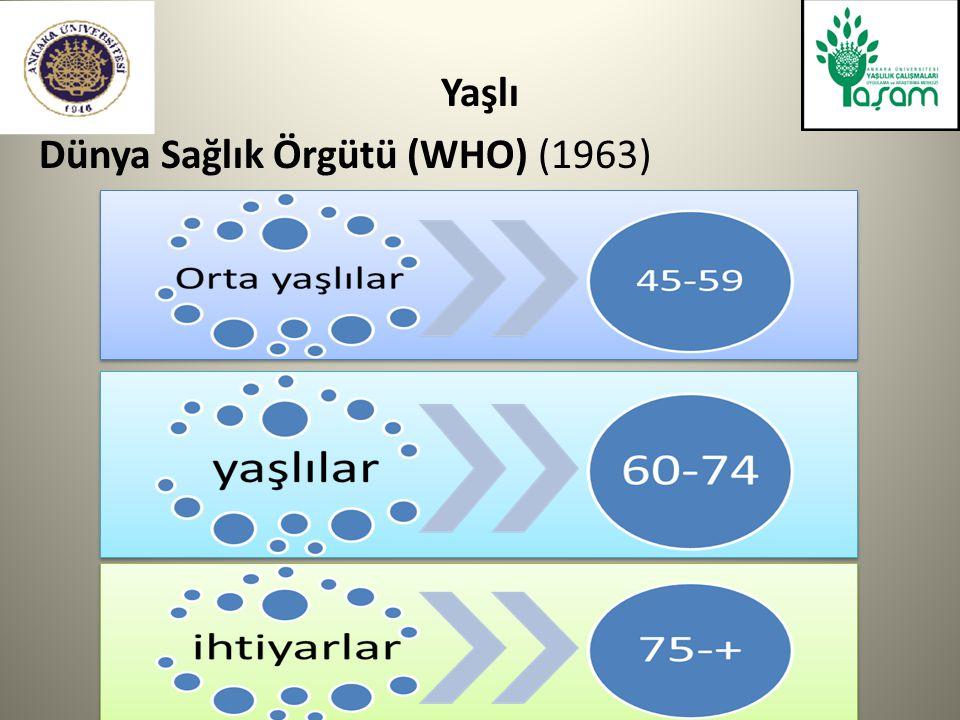 Avrupa Komisyonu için Eurobarometer tarafından yapılan araştırma (2011) Türkiye'de 1000, Avrupa'da 26 bin kişi 1.Araştırmaya katılanların % 35'i Türkiye deki 65 yaş ve üzerindeki bireylerin artışı ile ilgili olarak endişeli.