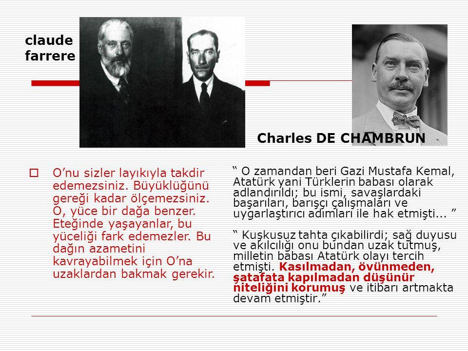 O zamandan beri Gazi Mustafa Kemal, Atatürk yani Türklerin babası olarak adlandırıldı; bu ismi, savaşlardaki başarıları, barışçı çalışmaları ve uygarlaştırıcı adımları ile hak etmişti...