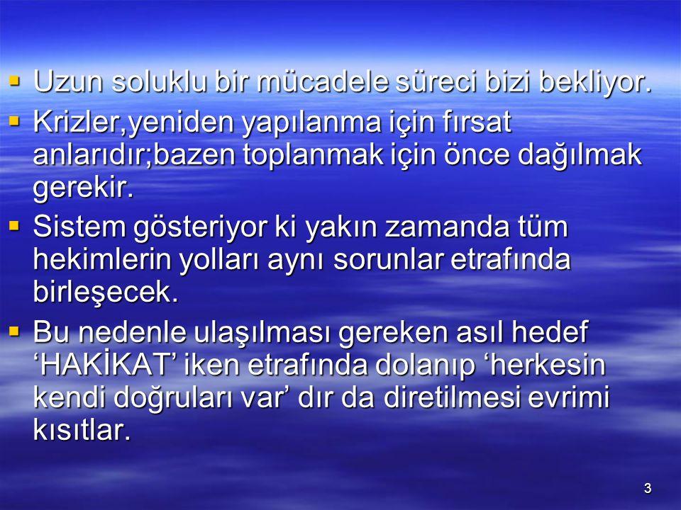 4  Özel hekimlik alanının yeniden yapılandığı ve hekim emeğinin giderek değer kaybettiği,özlük hakları ve iş güvencesi başta olmak üzere pek çok sorunun karşımıza çıktığı bu süreçte;  sektörde çalışan hekim sayısı da göz önüne alındığında, (İstanbulda 15 bin,sadece özel 10 bin) (İstanbulda 15 bin,sadece özel 10 bin)  Özel sektöre ait gündem ağırlık kazanacak