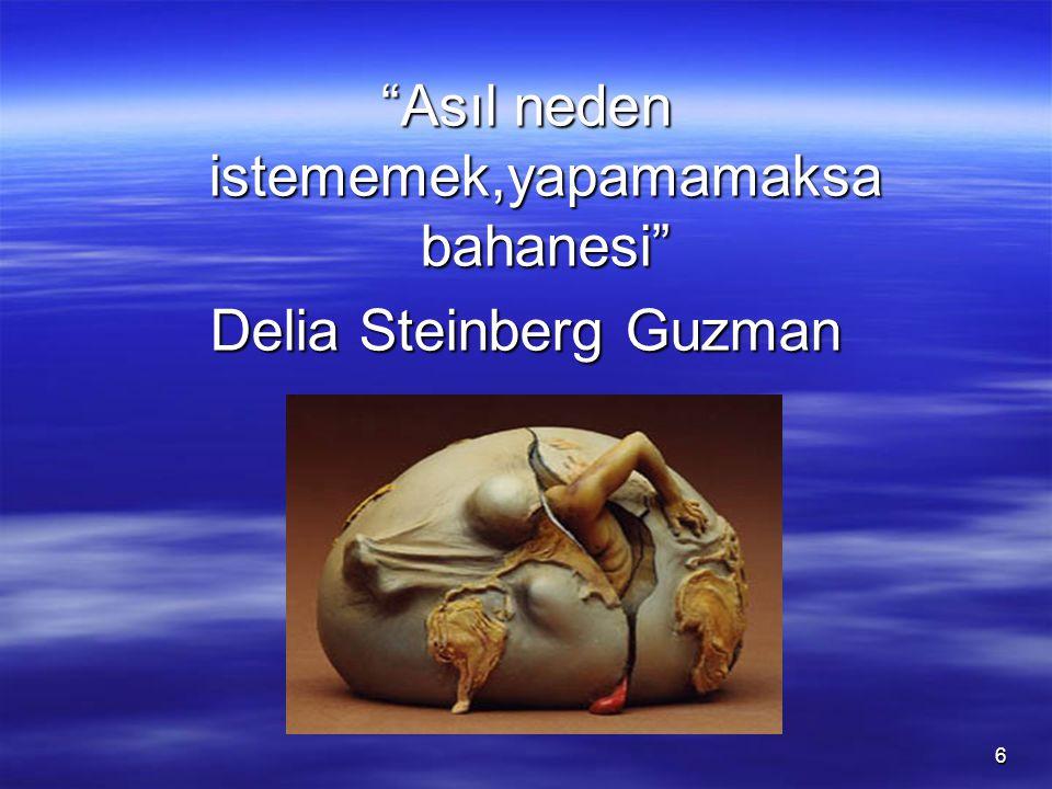 6 Asıl neden istememek,yapamamaksa bahanesi Delia Steinberg Guzman