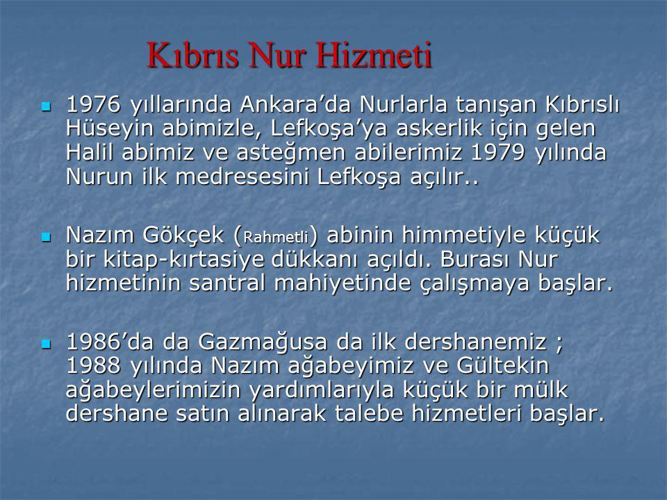 1990 yılında resmi vakfımız olan Kıbrıs İlim Kültür ve Hizmet Vakfımız kurulur.
