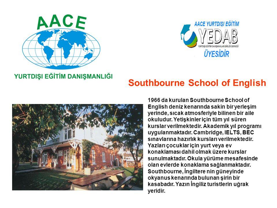 1966 da kurulan Southbourne School of English deniz kenarında sakin bir yerleşim yerinde, sıcak atmosferiyle bilinen bir aile okuludur. Yetişkinler iç