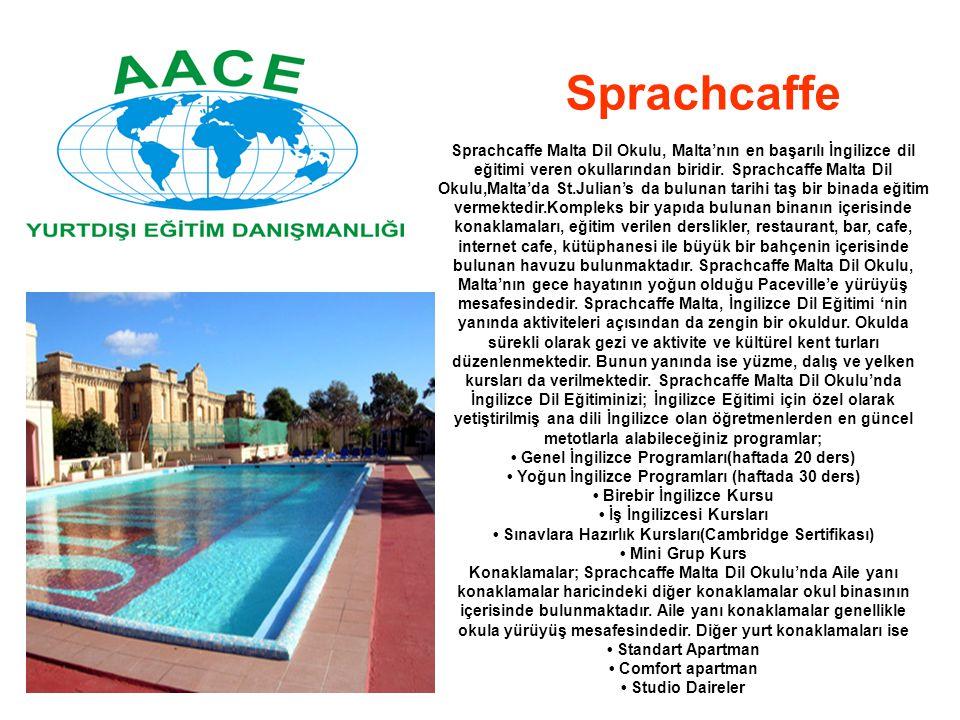 Sprachcaffe Malta Dil Okulu, Malta'nın en başarılı İngilizce dil eğitimi veren okullarından biridir. Sprachcaffe Malta Dil Okulu,Malta'da St.Julian's