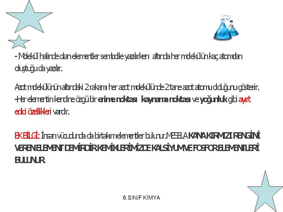 6.SINIF KİMYA
