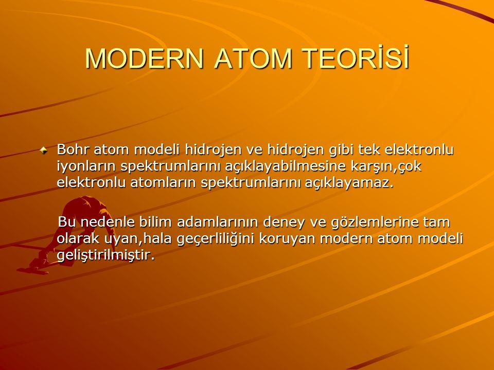 ATOM MODELLERİ (BOHR) Atom temel halde iken ışık yaymaz.Ancak elektronlar yüksek enerjili bir durumdan düşük enerjili duruma geçerken ışık yayar.Bu ış