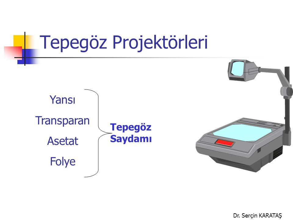 Dr. Serçin KARATAŞ Tepegöz Projektörleri Yansı Transparan Asetat Folye Tepegöz Saydamı