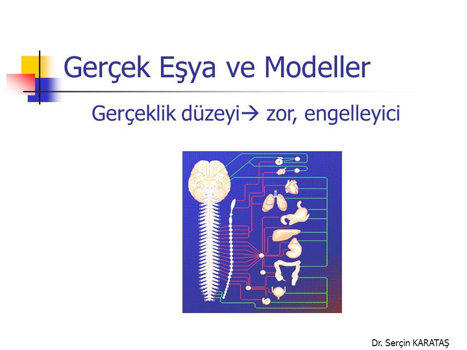 Dr. Serçin KARATAŞ Gerçek Eşya ve Modeller Gerçeklik düzeyi  zor, engelleyici
