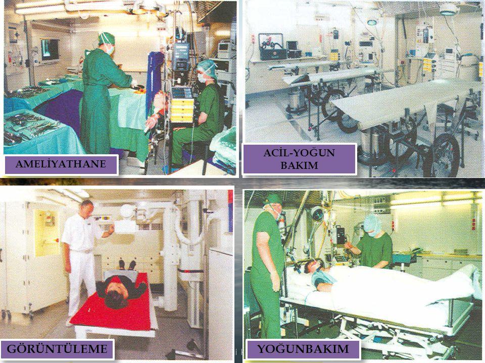 İÇERİĞİ: Konteyner20-80 Çadır20-100 İnsan gücü180 Hasta kapasitesi100-300 Kurulum süresi36-72 saat İlk hasta kabul2.5 saat KULLANIM AMACI: Büyük ulaşı