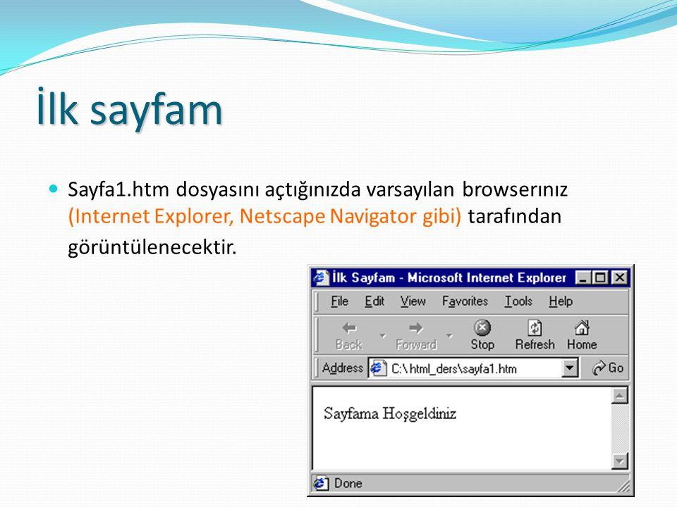 Metin Biçimlendirme Etiketlerinin Kullanımı Örnek: Metin Biçimleri (005_text.htm) Metin Biçimleri (005_text.htm) Güçlü Vurgu STRONG (Strong Emphasis) Metni Kalın B (Bolt) Gibi Gözüküyor.