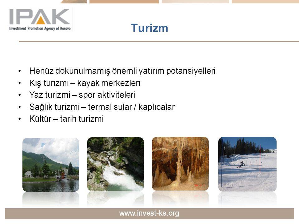Turizm Henüz dokunulmamış önemli yatırım potansiyelleri Kış turizmi – kayak merkezleri Yaz turizmi – spor aktiviteleri Sağlık turizmi – termal sular /