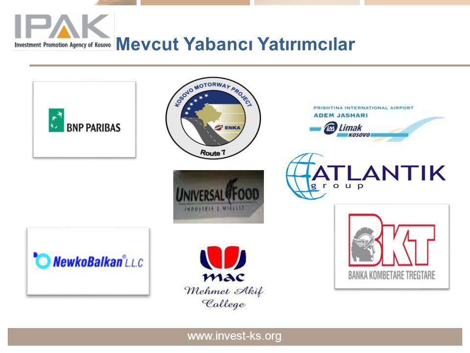 Mevcut Yabancı Yatırımcılar www.invest-ks.org