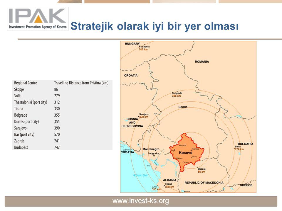 Stratejik olarak iyi bir yer olması www.invest-ks.org