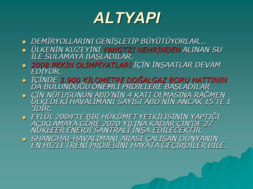 ALTYAPI  DEMİRYOLLARINI GENİŞLETİP BÜYÜTÜYORLAR...