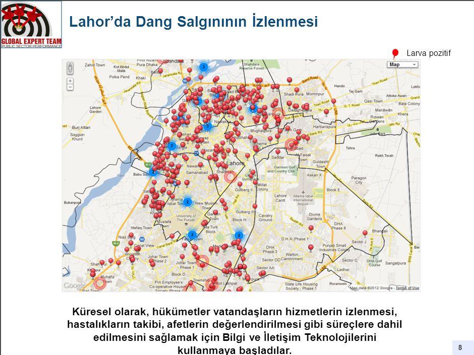 Lahor'da Dang Salgınının İzlenmesi 8 Küresel olarak, hükümetler vatandaşların hizmetlerin izlenmesi, hastalıkların takibi, afetlerin değerlendirilmesi