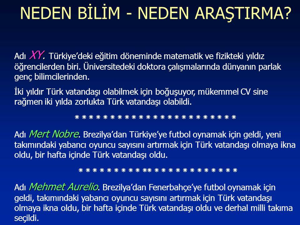 NEDEN BİLİM - NEDEN ARAŞTIRMA? XY. Adı XY. Türkiye'deki eğitim döneminde matematik ve fizikteki yıldız öğrencilerden biri. Üniversitedeki doktora çalı