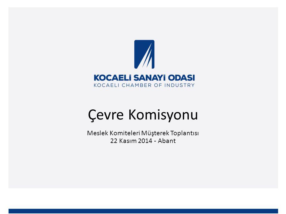 Çevre Komisyonu Meslek Komiteleri Müşterek Toplantısı 22 Kasım 2014 - Abant