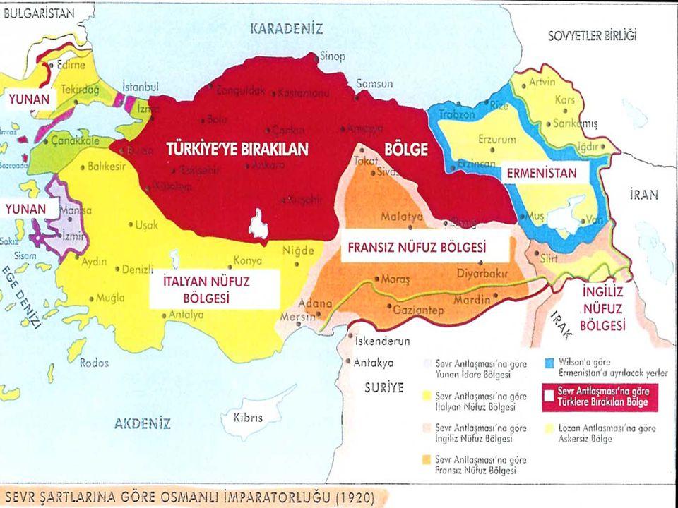 3-Ege bölgesi, derinliklerine kadar İzmir kentiyle birlikte Yunanistan'a veriliyordu.