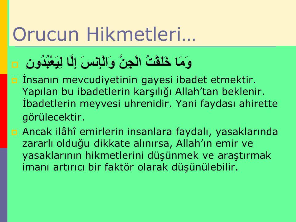 Bereketli Bir Ramazan İçin…..