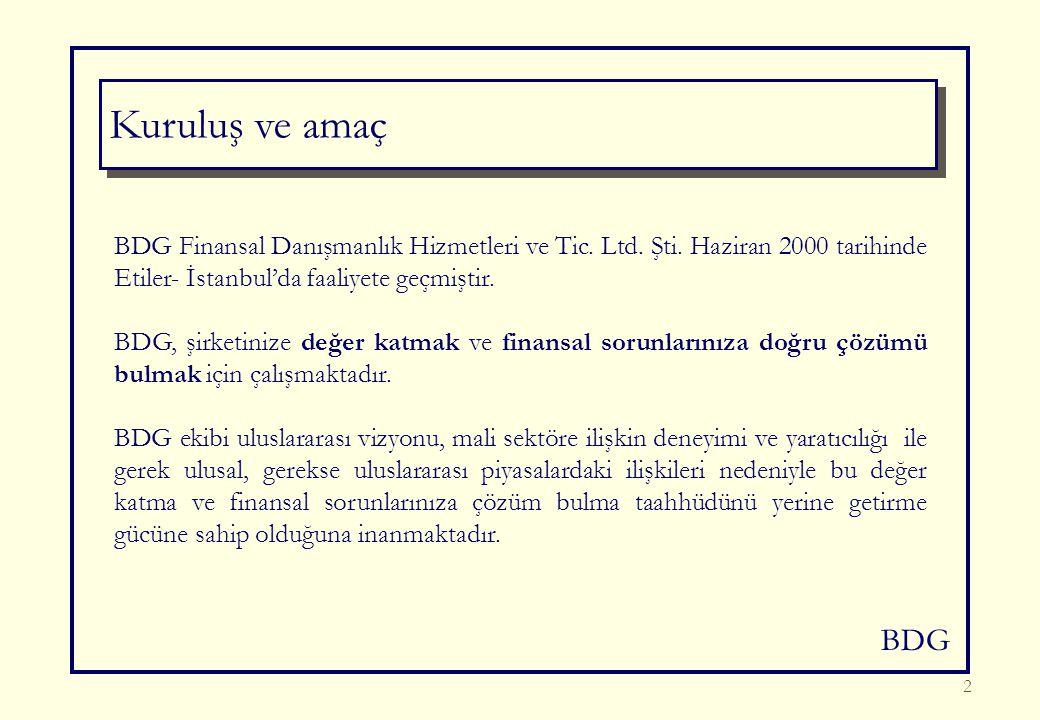 BDG 2 BDG Finansal Danışmanlık Hizmetleri ve Tic. Ltd.