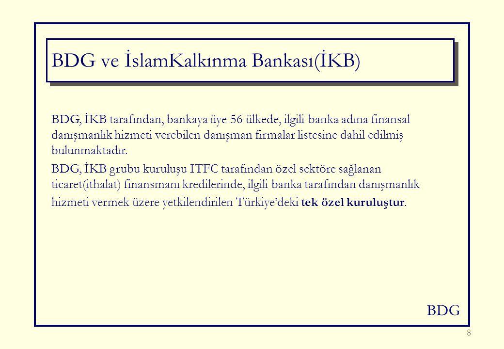BDG 8 BDG, İKB tarafından, bankaya üye 56 ülkede, ilgili banka adına finansal danışmanlık hizmeti verebilen danışman firmalar listesine dahil edilmiş bulunmaktadır.