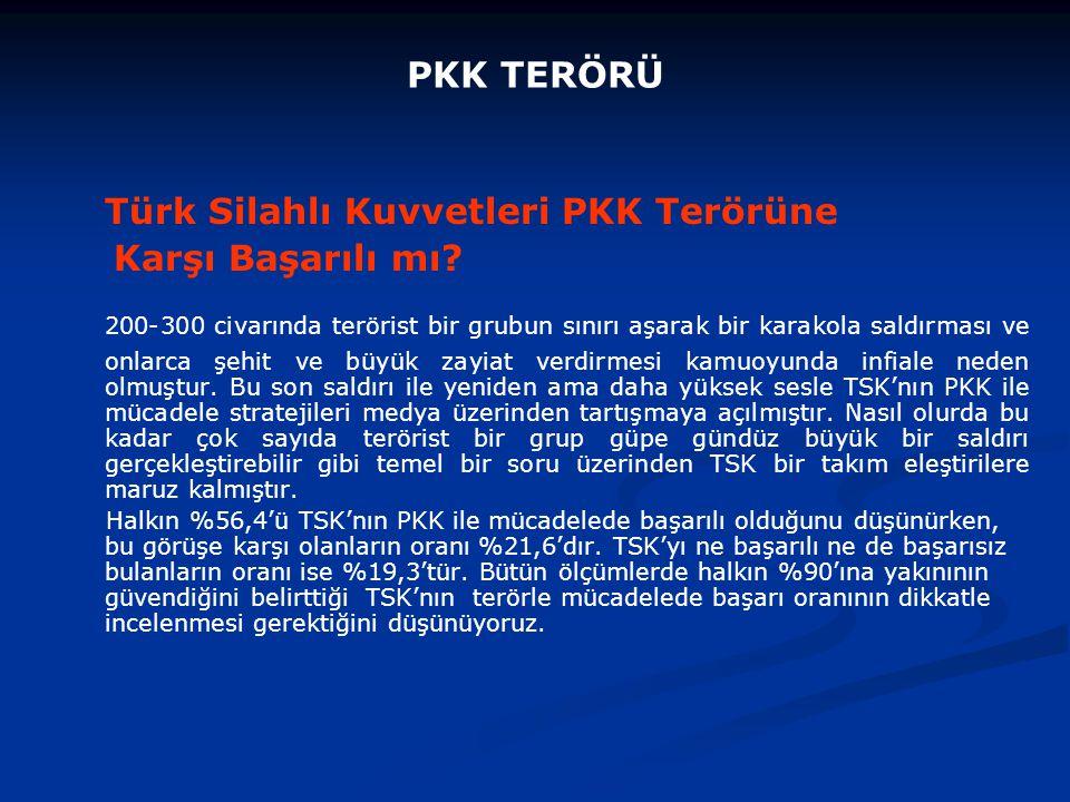 Türk Silahlı Kuvvetleri PKK Terörüne Karşı Başarılı mı.
