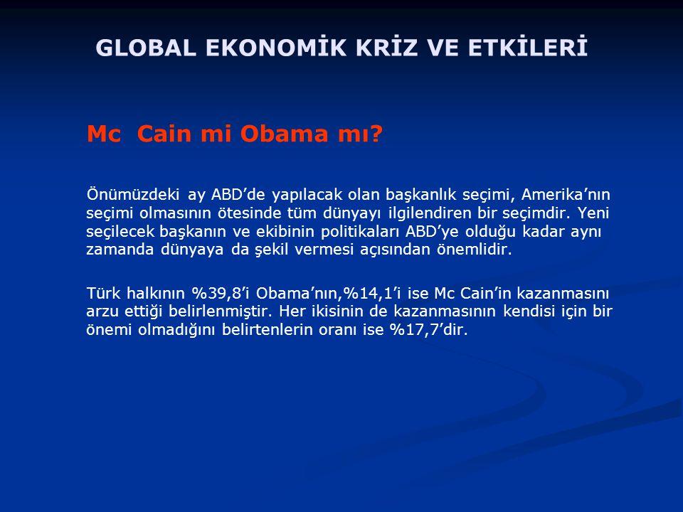 Mc Cain mi Obama mı.